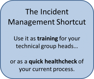 Incident Management Shortcut options