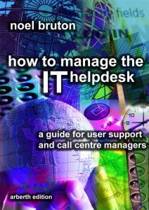 Cover of Noel Bruton's Book 'How to Manage the IT Helpdesk'