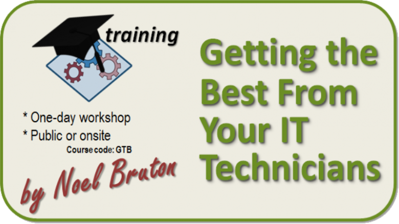 Logo Training Getting the Best from Your IT Technicians