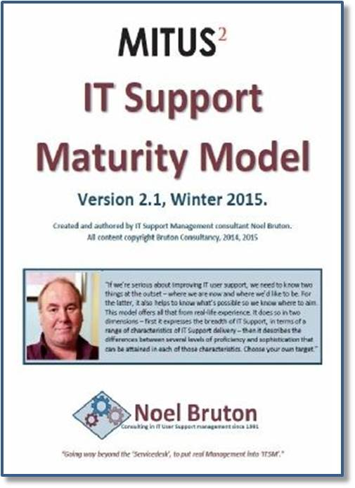 IT Support Maturity Model Cover